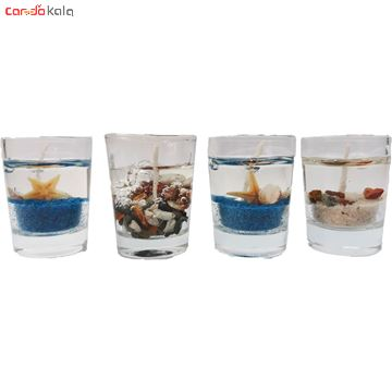 تصویر از شمع طرح شات مدل دریایی بسته 4 عددی